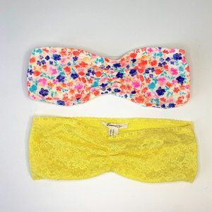 PINK and Forever 21 Lace Bandeau Bras